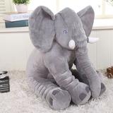Peluche Almohada Elefante Bebé Juguete Suavecito 65 Cm