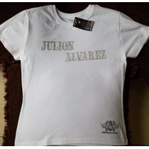 Playera Oficial Julion Alvarez Original (para Mujer Talla G)