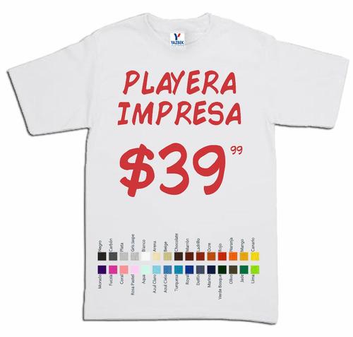 c00dba49c2eeb Playera Yazbek Blanca Personaliza Impresa Serigrafia Urgente en ...