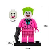 Batman Dc Comics Figura Compatible Lego Guason Joker Rosa