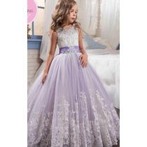 84527b349 Vestido Niña Primera Comunión Presentación Bautizo Elegante en venta ...