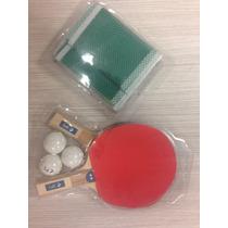 Set De 4 Raquetas De Ping Pong Con Pelotas Y Red
