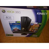 Xbox 360 Super Slim 4gb + 24 Juegos + Caja + Manules