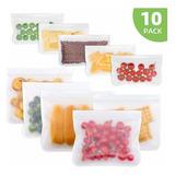 Bolsas De Silicon Reutilizables Para Alimentos Pack 10 Pzas