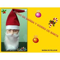 Barba Con Bigote Y Gorro De Santa Claus