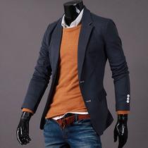 Saco Blazer Hombre Slim Fit Elegante Casual Moda Juvenil