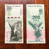 Billete 200 Bicentenario, Año 2010. Nuevo Sin Circular.
