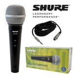 Shure Microfono Pro Dinamico Sv100 Original Para Vocalista