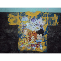 Playeras Dragon Ball Z Gt De Goku Vegeta Boo Talla 6-8 Niño