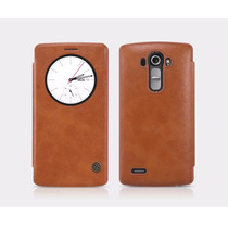 Funda Nillkin Qin Lg G4 Quick Circle Smart 100% Piel