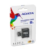 Memoria Adata Microsd Hc 8gb Clase 4 Con Adaptador Sd