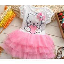 Vestido Niña Falda Tul Tutu Hello Kitty Tallas 2 3 4 5