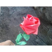 Florero De Rosas De Papel Exelente Regalo