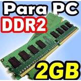 Memoria Ram Ddr2 2gb A 800/6400mhz Pc Remate Varias Marcas