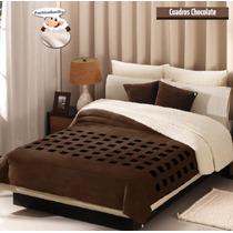 Cobertor Concord Borrega Cuadros Supermat / Queen Size