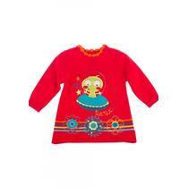 Vestido Manga Larga Rojo Tuc Tuc Marca Española 12 Meses Bb
