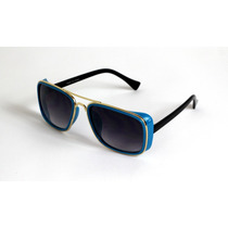 Lentes Gafas De Sol Estilo Matsuda Ironman Azul