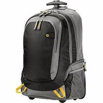 Roller Backpack Hp 15.6 Con 3 Compartimentos Negra/gris