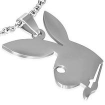 Dije De Acero Inoxidable Conejo Playboy