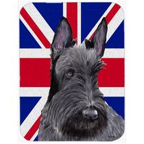 Terrier Escocés Con La Unión Jack Británica Inglés Crist