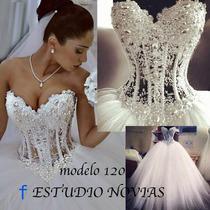 Vestido De Novia Nuevo Barato Modelo120 Vestido Ivory Blanco