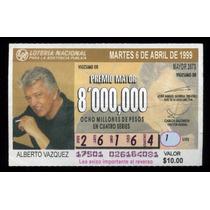 Billete De Lotería Alberto Vazquez