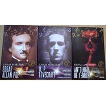 Paquete Antología De Terror + Lovecraft + Allan Poe 3 Libro