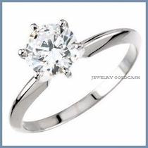 Anillo De Compromiso Diamante Natural .45ct Oro 18k -50% 204