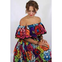 89044c533 Vestido Traje De Fiesta Mexicano Bordados Artesanales en venta en ...