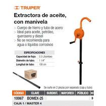 Bomba Extractora De Aceite, Con Manivela. Truper