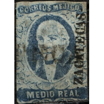2550 Clásico Scot #1 Zacatecas Hidalgo .5 Real Usado 1856