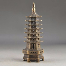Pagoda De Bronce/repisa/librero/7/decora/oficina/casa/buda/f