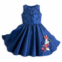 Vestido Deluxe Party Minnie Mouse Disney Store 2015 Tal 5/6