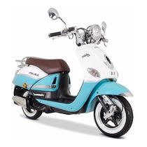 Moto Italika Vitalia 150 Blanco / Azul