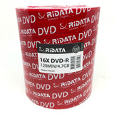 100 Dvd Ridata Virgen 4.7 Gb 16x Facturado Precio Neto Full