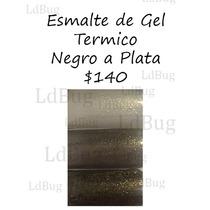 Esmalte De Gel Termico Va De Negro A Plata Botella De 15 Ml