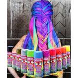 Spray Color Pintura Tinte Temporal Cabello Fantasia Flourece