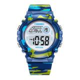 Reloj Infantil Led Niño Alarma Cronometro Militar Camuflaje Contra Agua Co1015