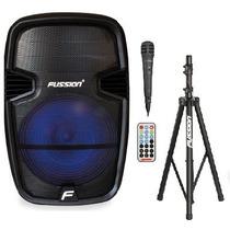 Bafle Recargable Activo Usb Bluetooth 6000w Bocina 15 Tripie