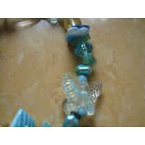 Sexy Pulsera Mujer Piedras Semipreciosas, Mariposa Cristal