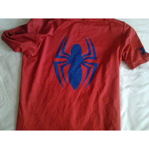 Camisas Under Armour Spiderman, Capitan America