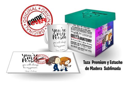 Regalo Grey's Anatomy, Taza Y Estuche Original Game Over