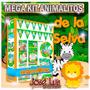 Kit Imprimible Animalitos De La Selva Invitaciones Candy Bar