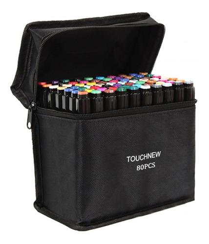 Set De Marcadores De Dibujo Doble Punta Touchfive 80 Colores