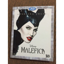 Maléfica Disney Angelina Jolie Bluray 3d + Bluray 2 Discos