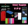 Funda Protectora Tpu Alcatel Idol 3 De 5.5 + Cristal Templad