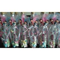 Invitaciones En Botellas De Cristal Angelitos