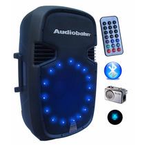 Bafle Biamplificado Audiobahn 15 3500w Bluetooth, Usb, Leds