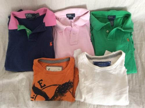 Lote 3 Camisa Polo Ralph L. Y 2 Playera A. Eagle Originales 732e66a2cc14c