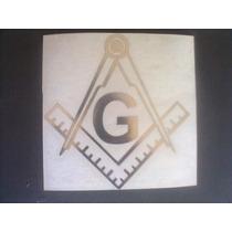 Stickers Gb Escuadra Y Compas, Masoneria Cromo Y Colores